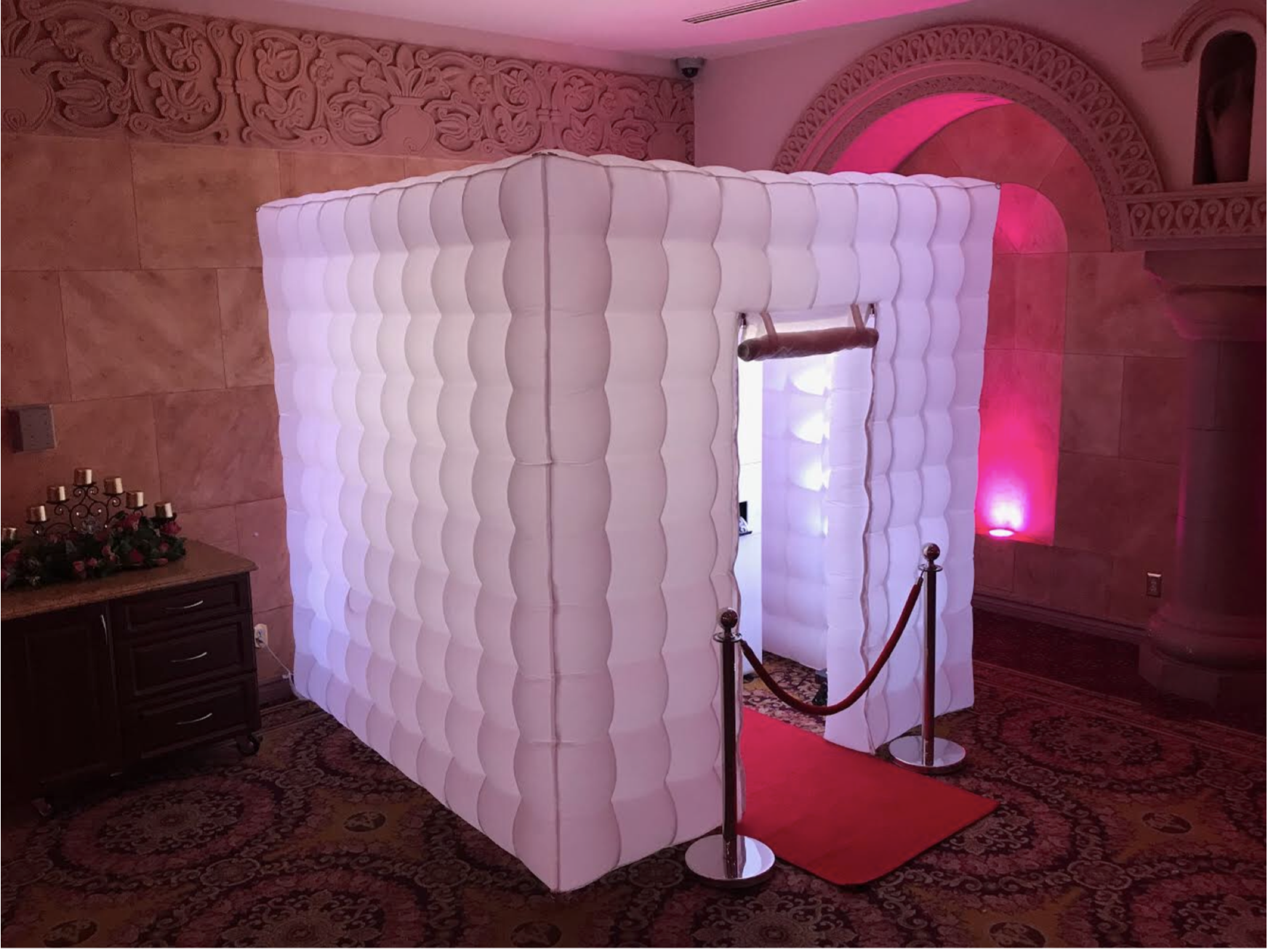 Inflatable LED enclosure by Angels Music DJs, Best Photo Booth rental Los Angeles for any Events, Photo Booth Services, Top Photo Booth To rent in L.A