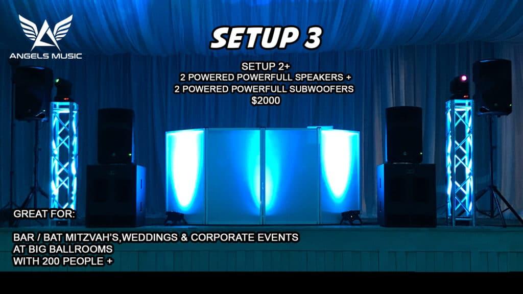 Angels Music Israeli Jewish wedding DJ package 3, DJ deal setup 3, Angels Music Djs, Israeli Wedding DJ, Israeli DJ, Jewish DJ, Jewish wedding DJ, Party DJ, Wedding DJ Los Angeles, Bar Mitzvah DJ, MC, EmCee Bar Mitzvah, Party Motivator Los Angeles