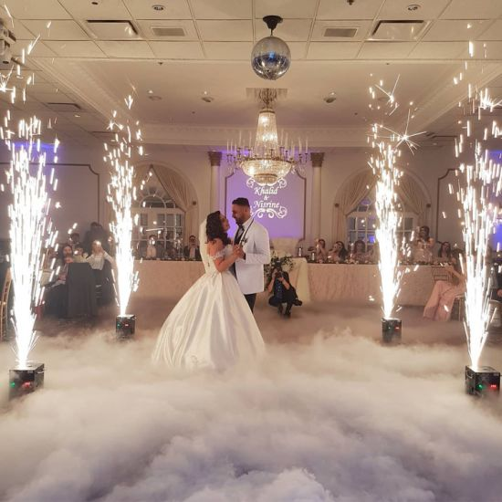 Persian wedding dj, special effects service Los Angeles, cold sparks, low fog machine, Fog Machine with sparkle machine for wedding Los Angeles