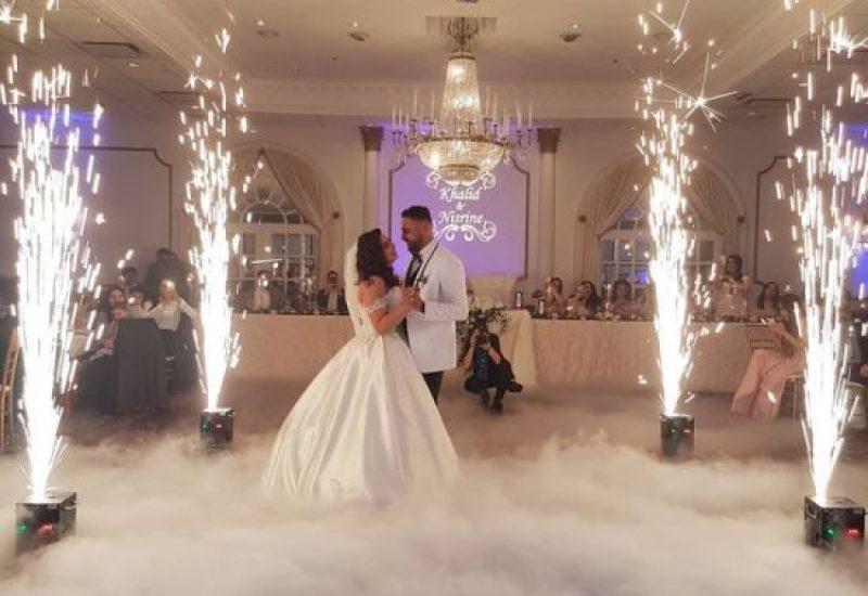 Fog Machine with sparkle machine for wedding Los Angeles